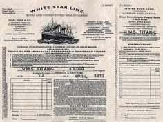 This photograph of Titanic ticket is a third class boarding pass for RMS Titanic ship that sank in the North Atlantic Ocean on 15 April Rms Titanic, Titanic Real, Titanic History, Titanic Photos, Titanic Movie, Titanic Poster, Titanic Sinking, Rome History, Titanic Museum
