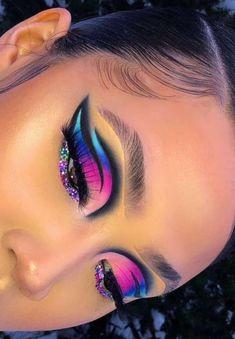 Dope Makeup, Baddie Makeup, Eye Makeup Art, Crazy Makeup, Smokey Eye Makeup, Glam Makeup, Makeup Eyeshadow Palette, Eyeshadows, Eye Makeup Designs