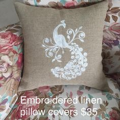 At long last, love! My first shipment of #embroidery #peacock #pillows has arrived Soft chunky linen fabric - so much nicer than #burlap. Soon to be on @Wayfair in my #Pillowfolly collection! Want one? DM me before they're gone! #throwpillows #mywork #decorating #handmade #freeshipping