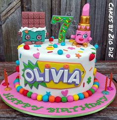 Shopkins cake requested by the birthday girl with her favourite characters, Cheeky Chocolate & Lippy Lipstick. Happy 7th birthday Olivia #sydneycakedecorator #sydneycakes #sydneynoveltycakes #noveltycakes #birthday #birthdaygirl #followme #beautiful #amazing #austcakedecoratingnetwork #cakeboss #bakeboss #bakebossaustralia #like #follow #instacake #7thbirthday #shopkins #shopkinsparty #cheekychocolate #lippy #lippylipstick #olivia