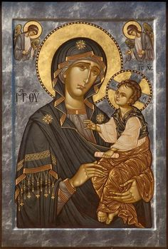 (ΚΤ) Religious Images, Religious Icons, Religious Art, Madonna, Byzantine Icons, Byzantine Art, Faith Of Our Fathers, Greek Icons, Religion