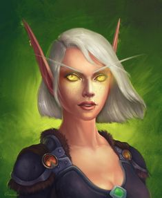 Tsirael by Oxana Reshetina Freelance illustrator World Of Warcraft 3, World Of Warcraft Characters, Dnd Characters, Character Portraits, Character Art, Character Concept, Elf Art, Blood Elf, Dungeons And Dragons Homebrew