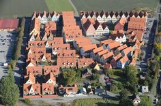 Skåne - Lite Från Ovan: Jakriborg i Hjärup Architecture Visualization, Space Architecture, Urban Planning, Aerial Photography, Malaga, Aerial View, The Neighbourhood, Places To Go, Around The Worlds