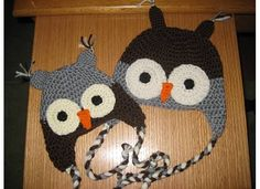 Big Brother and Little Brother Owl hats