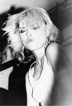 Debbie Harry, Blondie, at My Father's Place, Long Island NY 1978, by Ebet Roberts