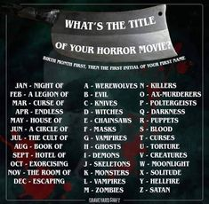 Band Name Generator, Story Generator, Movie Memes, Movie Titles, Funny Memes, Facebook Group Games, Facebook Sign Up, Scary Stories, Horror Stories