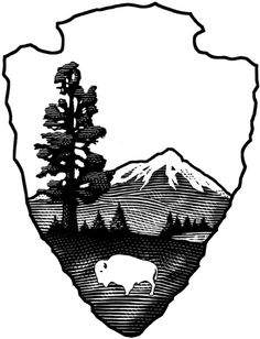 national park tattoo - Google Search Service Logo, Park Service, Freedom Trail, Nature Tattoos, Yellowstone National Park, National Parks, Diy Signs, Get A Tattoo, Sleeve Tattoos