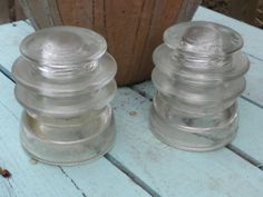 Vintage Glass Insulator by JMFindsandDesigns on Etsy, $12.00