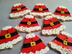 Christmas Cookies SANTA BELLIES by AlliesSweetTooth on Etsy
