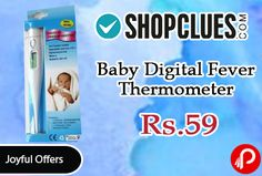 Shopclues #Joyful #Offers is offering 85% off on Baby Digital Fever Thermometer at Rs.59 Only. Gives Accurate Temperature Readings Both Oral and Underarm, Non-toxic, Temperature Results in C or F, Made to Highest Safety Standards, Flexible Tip with Cover. Measures Baby's Temperature Safely and Comfortably, Larger LCD Display, Quick, Easy and Reusable, Easy to Clean with Soft Damp Cloth.   http://www.paisebachaoindia.com/baby-digital-fever-thermometer-at-rs-59-only-shopclues/