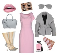 Pink and Gray by romar66 on Polyvore featuring polyvore, fashion, style, Oscar de la Renta, Balmain, Office, Michael Kors, Yves Saint Laurent, Victoria's Secret and clothing