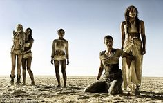 """Abbey Lee Kershaw as The Dag, Courtney Eaton as Cheedo the Fragile Zoe Kravitz as Toast the Knowing, Charlize Theron as Imperator Furiosa and Riley Keough as Capanble in """"Mad Max: Fury Road"""" Mad Max Fury Road, Tom Hardy, Charlize Theron, Christopher Nolan, Mel Gibson, Best Action Movies, Good Movies, Action Film, Blade Runner"""