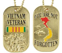 Vietnam Veteran Dog Tag | Medals of America. Exclusive design from Medals of America. You are Not Forgotten!