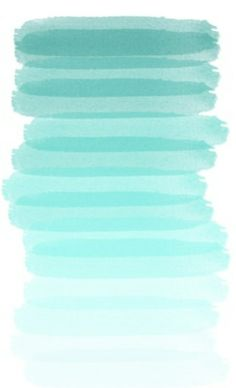 Turquoise ombré, one shade of the color I love, blue.  -Tay