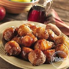 Apple Fritters with Spiced Syrup from Pillsbury® Baking