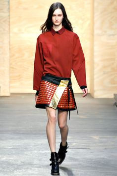 Proenza Schouler RTW A/W 2012/13.  Model - Mackenzie Drazan.