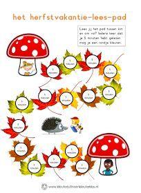 Lezen in de herfstvakantie Kindergarten Lessons, Primary School, Spelling, Teacher, Classroom, Activities, Letters, Numeracy, Maths