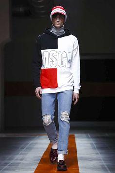 Male Fashion Trends: MSGM Fall-Winter 2017 - Milan Fashion Week