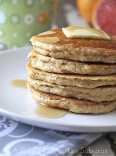 Wheat free quinoa pancakes oat flour, rice flour, whole food recipes, healt Wheat Free Recipes, Dairy Free Recipes, Whole Food Recipes, Cooking Recipes, Healthy Recipes, Drink Recipes, Cooking Tips, Dinner Recipes, Quinoa Pancakes