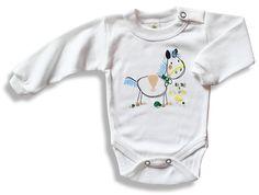Detské body - Koník http://www.milinko-oblecenie.sk/detske-body--overaly--dupacky/strana-2/ #detskebody #bodyprebabatka #kojeneckebody