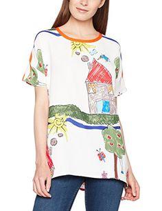 ROSE A POIS Women's Kiwi T-Shirt, Arancione (Arancio/Bianco), 10 (S). UK t shirt. UK t shirts. Women t shirt. Women t shirts. Women fashion Women dressing. It's an Amazon affiliate link.