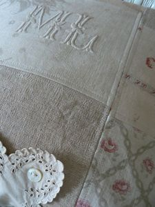quilt using old French fabrics