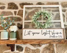 48 Likes, 1 Comments - Jessica Farmhouse Signs, Farmhouse Decor, Wooden Window Frames, New Sign, Seasonal Decor, Wedding Signs, Ladder Decor, New Homes, Marketing