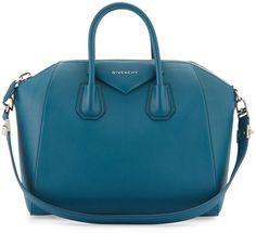 Givenchy Antigona Medium Sugar Satchel Bag, Dark Blue