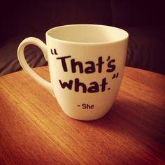 DIY mug decorating. Nailed it.