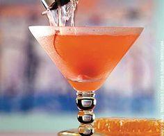 Honey Bee Cosmopolitan   (- 1 1/2 oz vodka  - 1 oz honey simple syrup  - 1 oz fresh lemon juice  - 1 1/2 oz cranberry juice  Garnish: cherry)