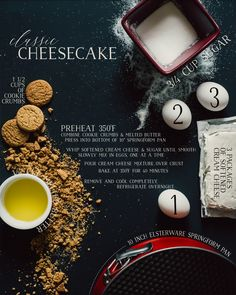 Classic Cheesecake recipe, super simple and easy. Elsteware springform pans and gingersnap crust