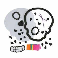 Celebrate the Day of the Dead with this fun craft kit for kids! This craft turns into Day of the Dead decorations you can carry through Halloween. Fall Crafts For Adults, Craft Kits For Kids, Oriental Trading, Tissue Paper, Sugar Skull, Fun Crafts, Adhesive, Snoopy, Crafty