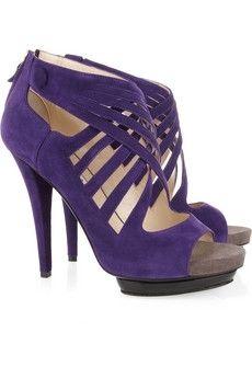 Burak Uyan|Cutout suede sandals|NET-A-PORTER.COM - StyleSays