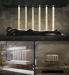 La douche horizontale. Massage du dos en vue ! Massage Dos, Bathtub, Comme, Showers, Houses, Home Decor, Products, Arquitetura, Interiors
