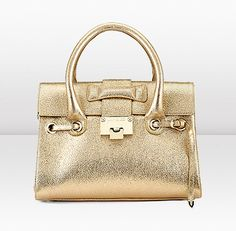 $1495.00 Jimmy Choo | Rosalie S | Small Top Handle Handbag in Gold Glitter Leather with Detachable Shoulder Strap | JIMMYCHOO.COM