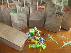 reptile party treat bags ...