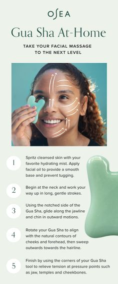Take your facial massage to the next level. Gua Sha relieves facial tension, sweeps away toxins, and firms skin for an overall sense of health and wellbeing. Beauty Care, Beauty Skin, Health And Beauty, Beauty Hacks, Hair Beauty, Beauty Tips, Gua Sha Facial, Facial Massage, Facial Oil