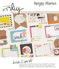 New DIY Design It Yourself products from Simple Stories. New for CHA-W 2014. (I need them all... ha!)