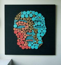 Mask / Original Modern Art / 3D Wall decoration / by DecoBoxRo, $350.00