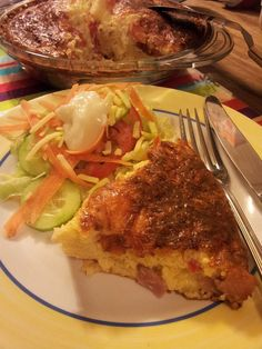Easy quiche like pie without pastry but with a base that makes itself. This has a lovely creamy, cheesy, bacon and onion flavour. Great served hot with salad, but just as yummy cold. Cheese Recipes, Cooking Recipes, Pie Recipes, Impossible Pie, Easy Quiche, Biscuit Bread, Allrecipes, Bacon, Brunch