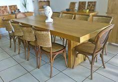 Stof Lar Decorações - Móveis em Madeira de Demolição: Mesa Modelo Caixa com Cadeiras de carvalho America...