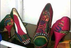 Unique African Designed Heels