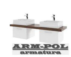 AQUAFORM - MERIDA Konsola podwójna bez otworu 150, 0401-293102 - Blaty umywalkowe - sklep ARM-POL