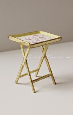 Cinderella Moments: Dollhouse Miniature Tray Table Tutorial