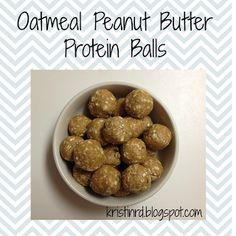 Oatmeal Peanut Butter Protein Balls