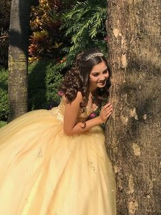 Xv Dresses, Quince Dresses, Prom Dresses, Wedding Dresses, Pretty Quinceanera Dresses, Quinceanera Themes, Sweet Sixteen Outfits, Beauty And The Beast Dress, Yellow Wedding Dress
