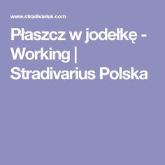Płaszcz w jodełkę - Working   Stradivarius Polska