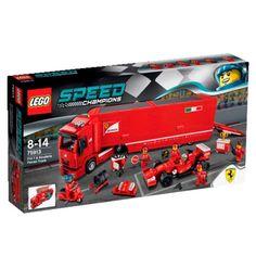 lego 75913 F14 T y Camión de la Escudería Ferrari