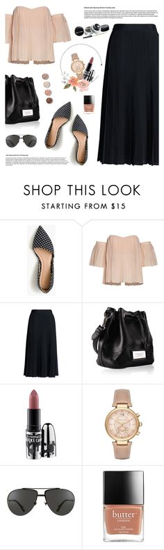 """Look 1 ( 05 / 06 / 2016 )"" by aneetaalex ❤ liked on Polyvore featuring J.Crew, Canvas by Lands' End, MAC Cosmetics, Michael Kors, Linda Farrow and Terre Mère"
