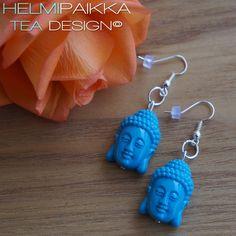 Buddha korvikset sininen